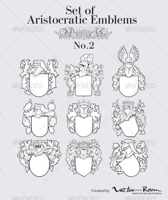 Set of Aristocratic Emblems No2 - Vectors