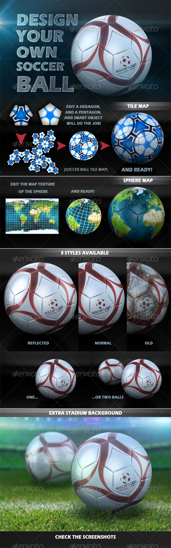 Soccer Ball Design Creator by MRS401 | GraphicRiver