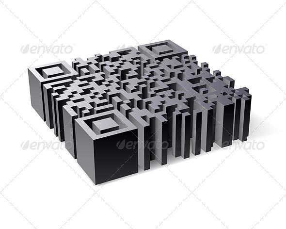 3D QR Code - Miscellaneous Vectors