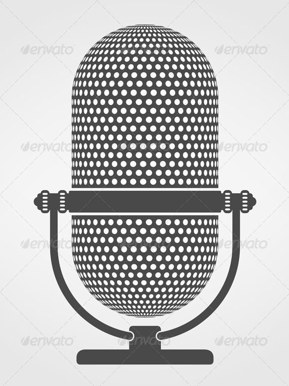 Microphone Silhouette - Objects Vectors