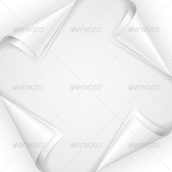 White Paper Corners - Decorative Symbols Decorative