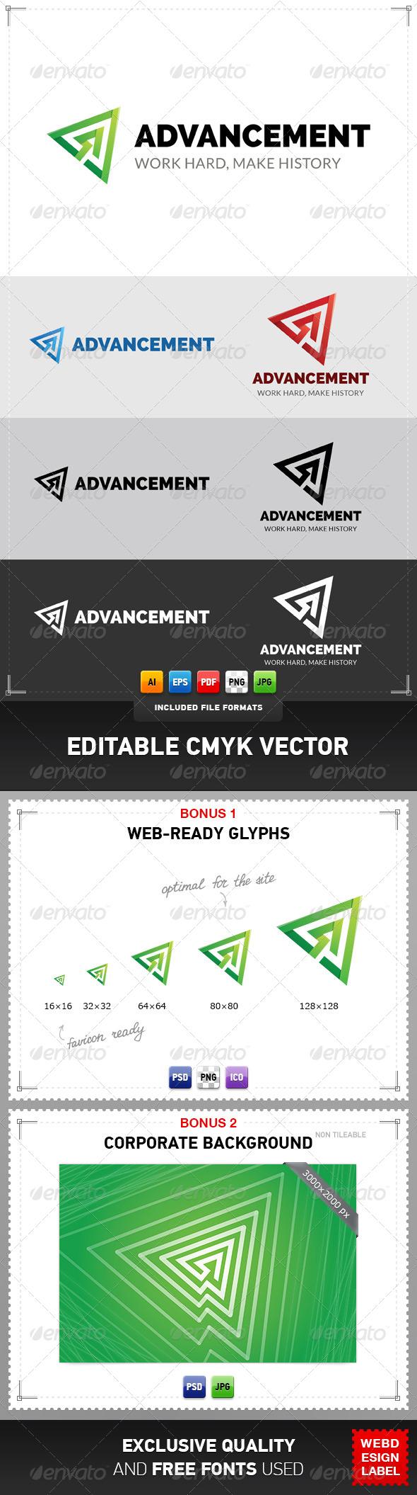 Advancement Logo - Symbols Logo Templates
