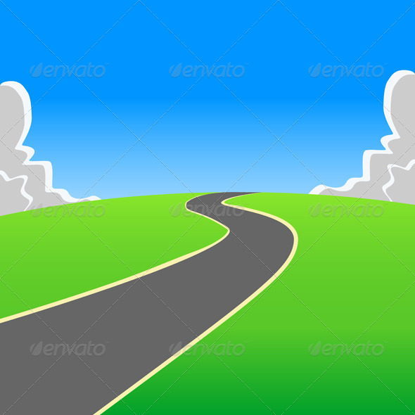 Road into the Unknown - Backgrounds Decorative