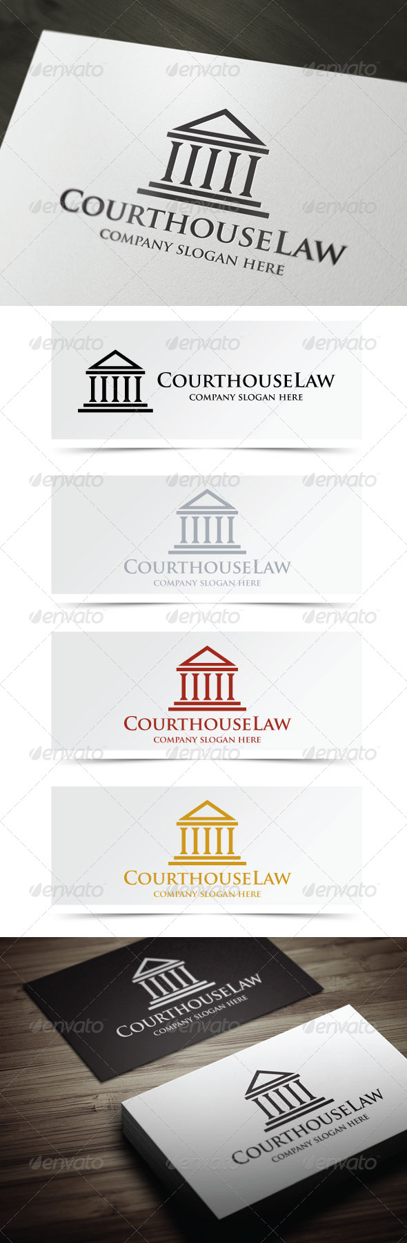 Courthouse Law - Buildings Logo Templates