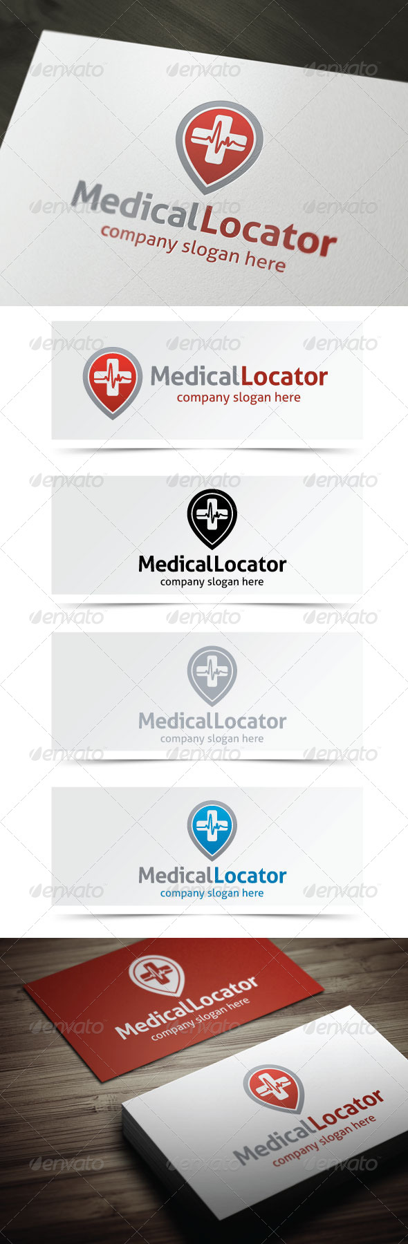 Medical Locator - Symbols Logo Templates