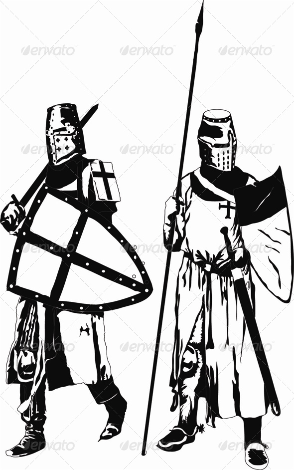 Two Knights Templars - People Characters