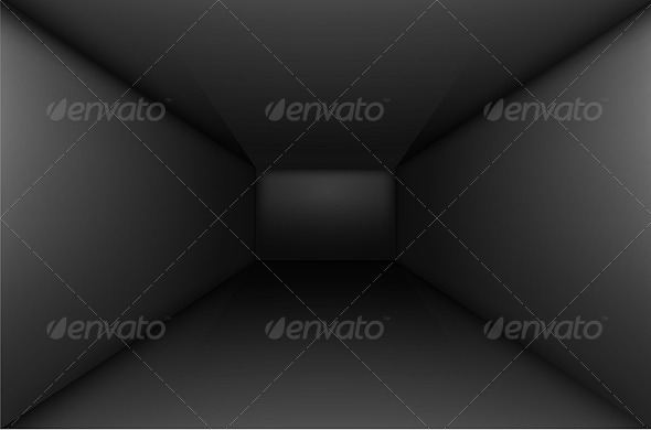 Black Empty Room - Backgrounds Decorative