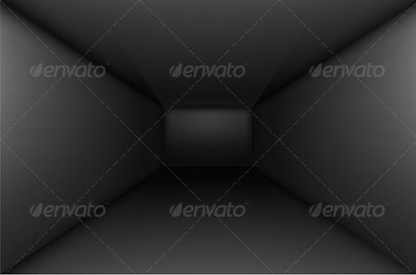 Black Empty Room - Backgrounds Decorative