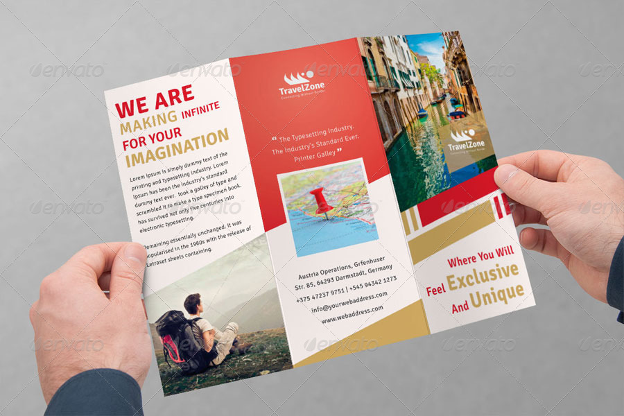 travel brochure template 3 fold - tourism tri fold brochure volume 2 by femo graphicriver