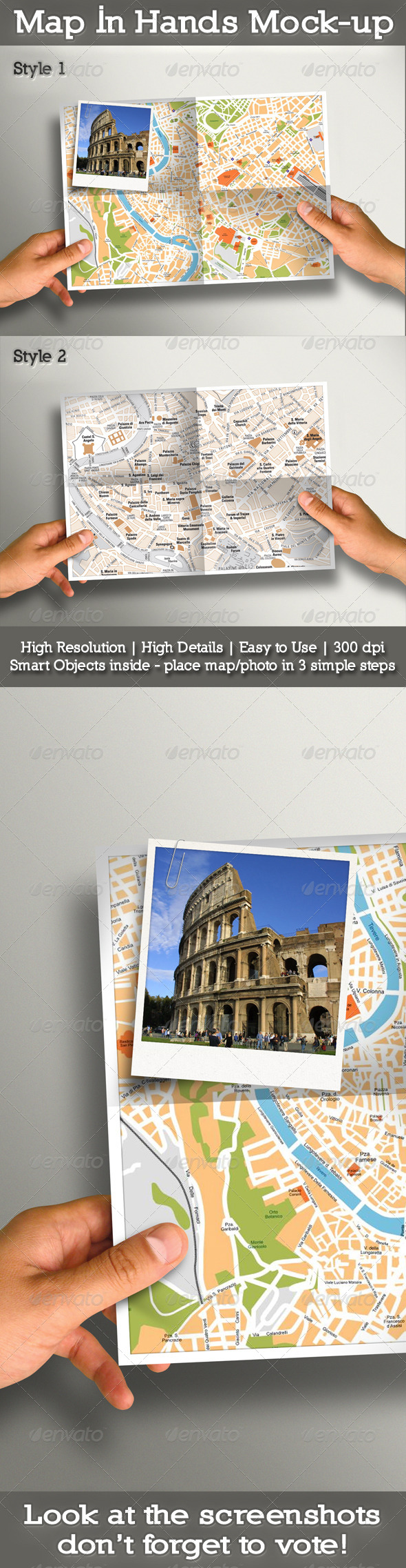 Map In Hands Mock-up - Miscellaneous Photo Templates