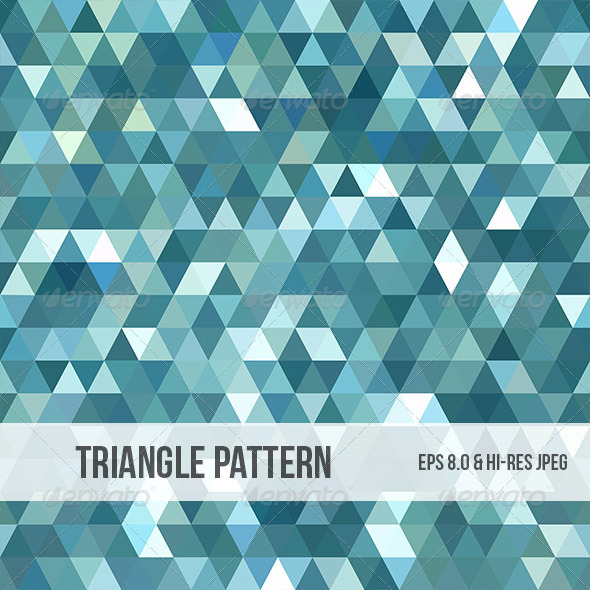 Abstract Triangle Background Pattern - Backgrounds Decorative