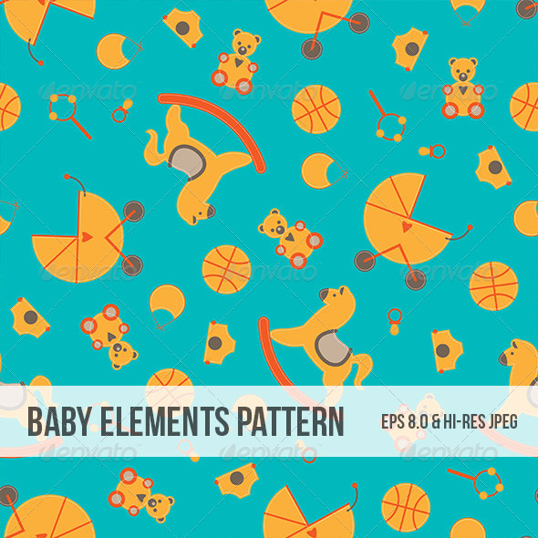 Seamless Baby Element Abstract Pattern - Backgrounds Decorative