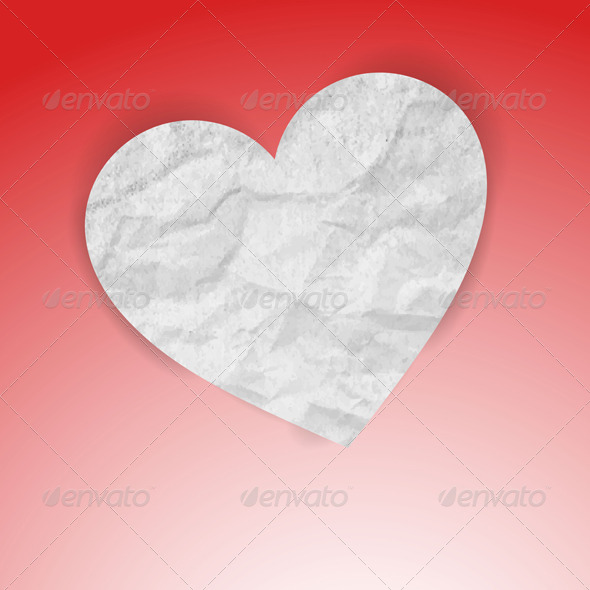 Paper Heart  - Backgrounds Decorative