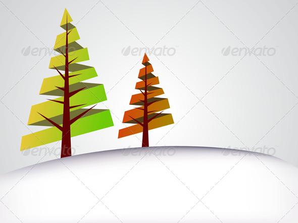 Season Tree Background - Backgrounds Decorative