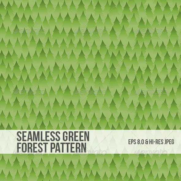 Seamless Green Forest Background Pattern - Backgrounds Decorative