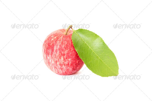 Juicy apple on a white. - Stock Photo - Images
