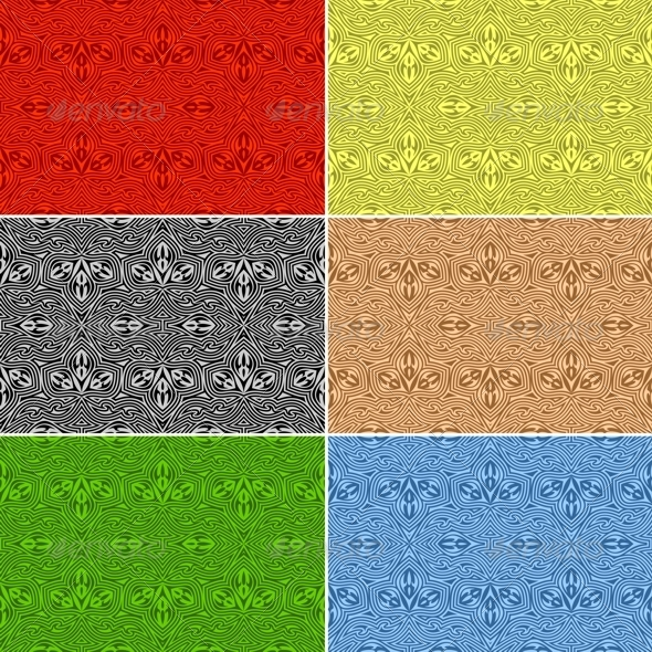 Seamless Patterns. Set - Patterns Decorative