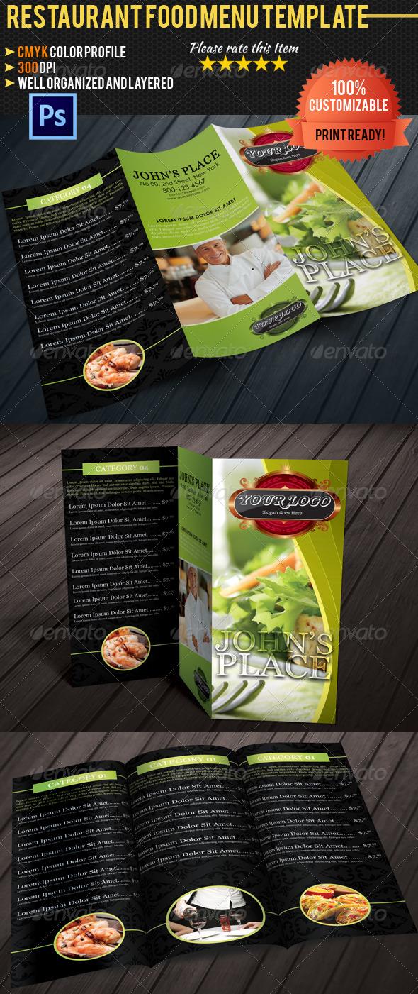 Tri fold restaurant food menu template 06 by pmvch graphicriver tri fold restaurant food menu template 06 food menus print templates pronofoot35fo Choice Image