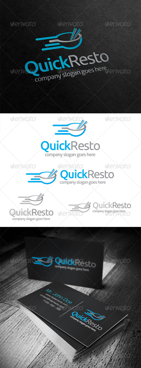 Quick Resto Logo - Food Logo Templates