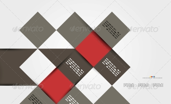 Modern Geometrical Abstract Template - Backgrounds Decorative