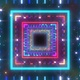 4k Square Stars Galaxy Tunnel - VideoHive Item for Sale