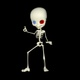 Cartoon Skeleton Dancing - VideoHive Item for Sale