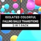Isolated Colorful Falling Balls Transitions Pack - VideoHive Item for Sale