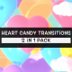 Isolated Heart Candy Transitions Pack - VideoHive Item for Sale