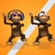 Monkey Cartoon 3d Character - Gangnam Style Dance (3-Pack) - VideoHive Item for Sale