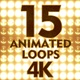 4K Looping Glow Flashing Lights - VideoHive Item for Sale