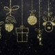 Merry Christmas Icons Gold Background - VideoHive Item for Sale