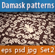 Seamless Damask Patterns Set - GraphicRiver Item for Sale