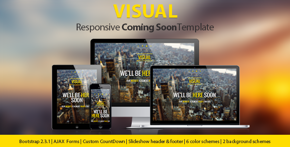 Visual – Responsive Coming Soon Page