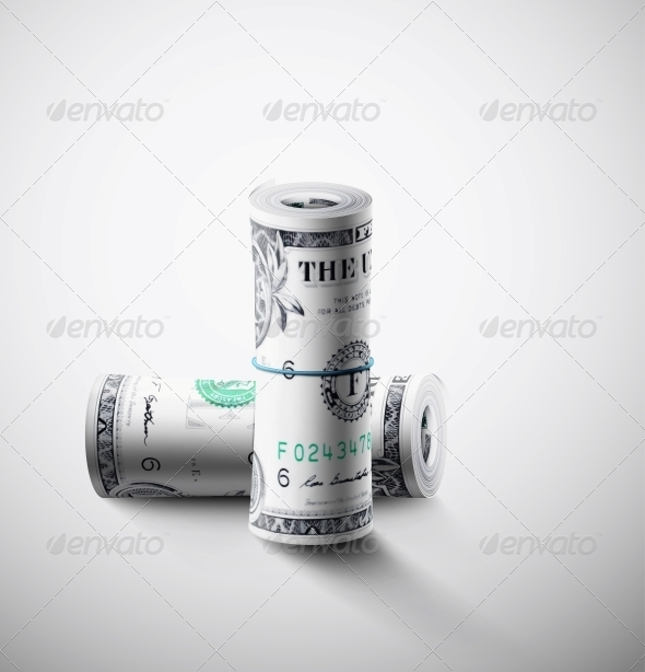 Two Rolls of Dollars - Concepts Business