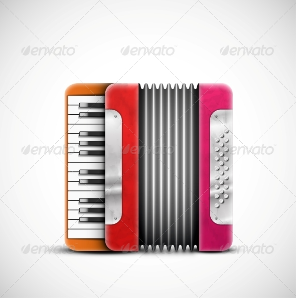 Colorful Accordion - Man-made Objects Objects