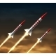 Flying Rockets - GraphicRiver Item for Sale