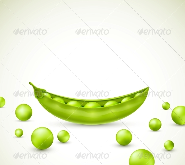 Green Peas - Food Objects