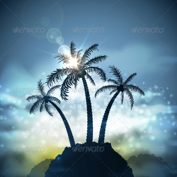 Three Palm Trees - Landscapes Nature
