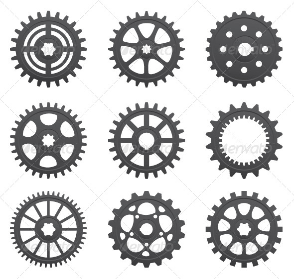 Set of Gears and Pinions - Industries Business