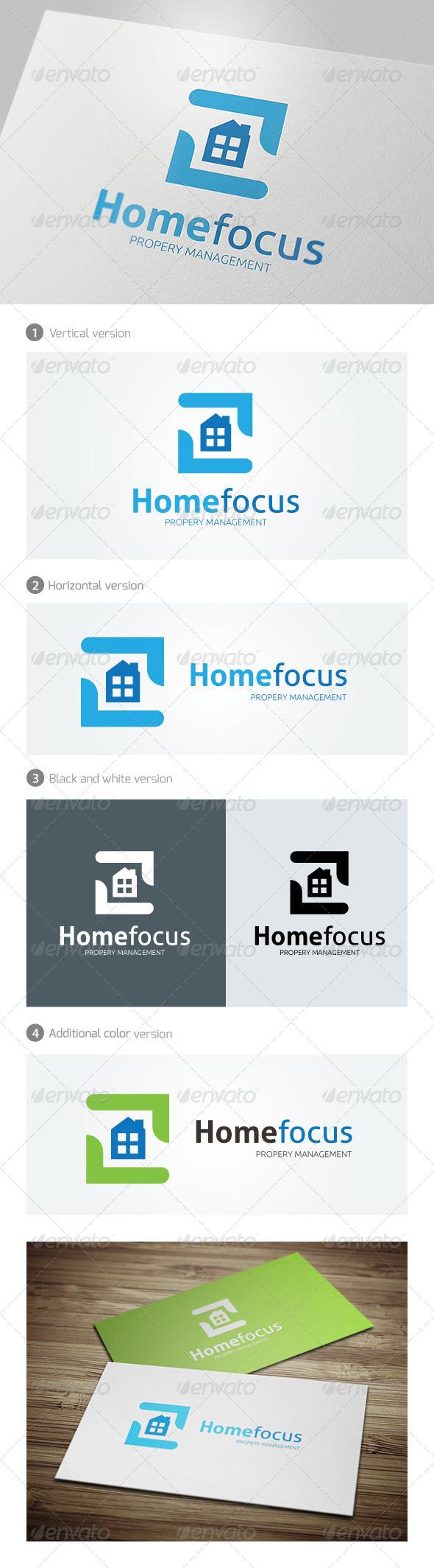 Home Focus Logo - Buildings Logo Templates