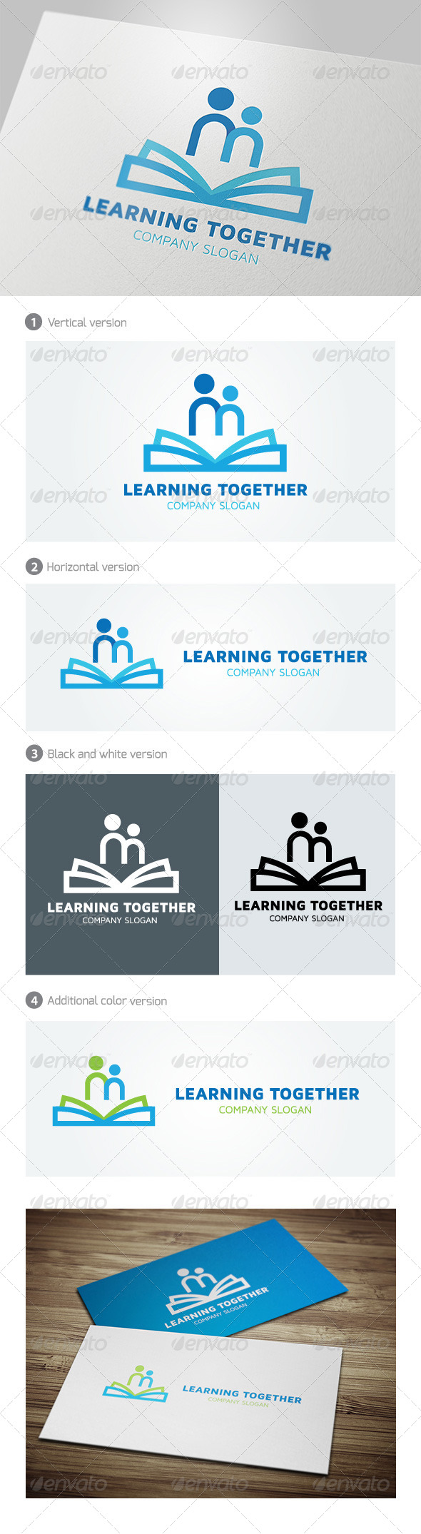 Learning Together - Humans Logo Templates