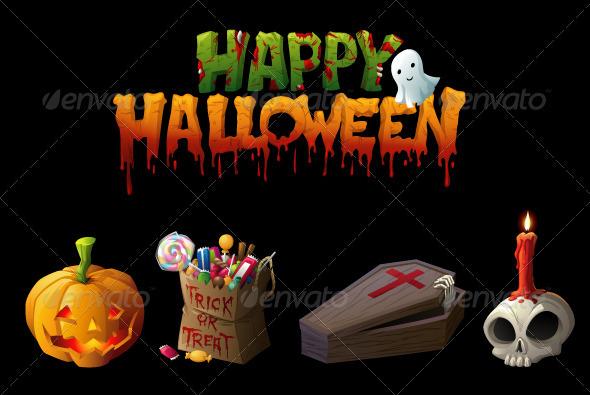 Illustrative Halloween Vector Clip Arts - Halloween Seasons/Holidays