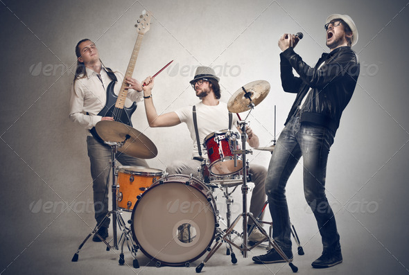 rock group - Stock Photo - Images