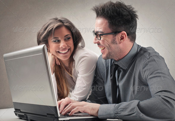 smile at work - Stock Photo - Images