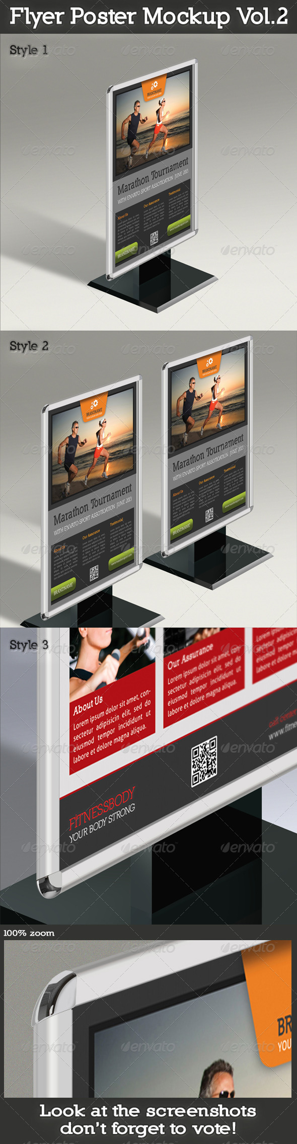 Flyer And Poster Mockup Vol.2 - Posters Print
