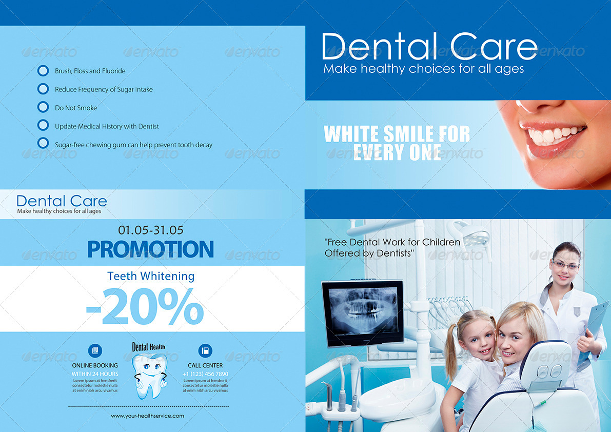 dental brochure templates - dental care a4 brochure by enem graphicriver