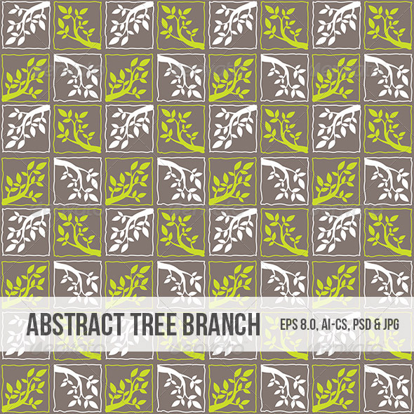 Seamless Abstract Tree Branch Pattern - Backgrounds Decorative