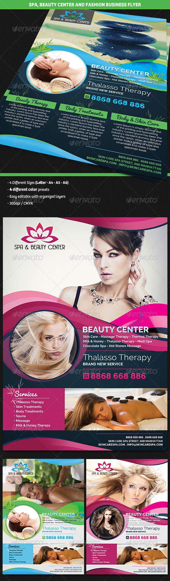 Spa Beauty Fashion Center Business Flyer By Gilledeville Graphicriver