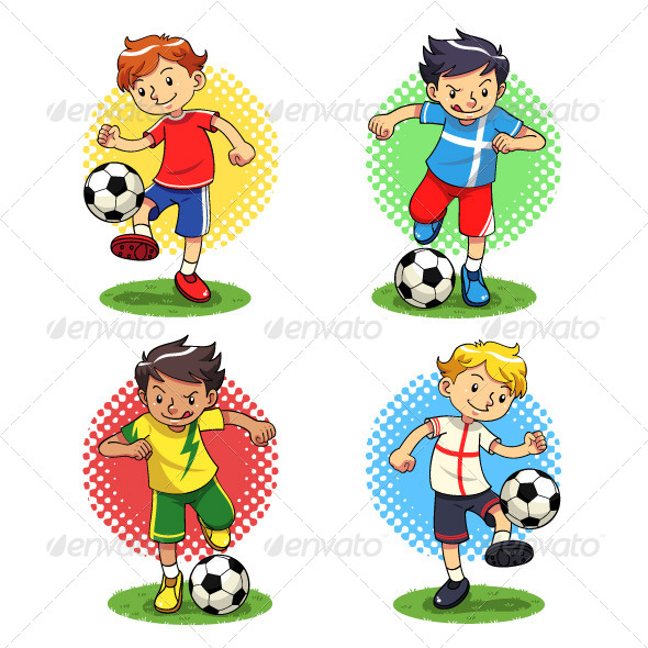 Soccer Boys - Sports/Activity Conceptual