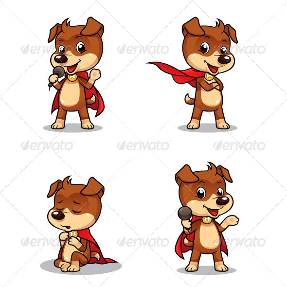 Superhero Puppy Dog 01 - Animals Characters
